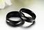 Coppia-Fedi-Fede-Fedine-Anello-Anelli-Nero-Fidanzamento-Nuziali-Cristallo-Occhio miniatura 4