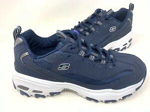 NUOVO-Skechers-Uomo-d-039-lites-lacci-comfort-Athletic-Scarpe-Blu-Navy-52675-200KL-TZ