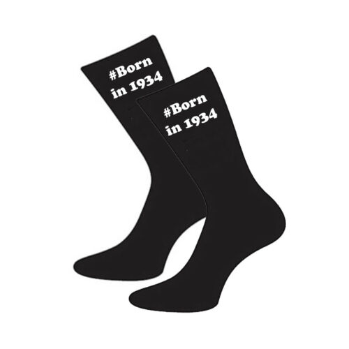 #Birthday Hashtag with Year Born in Size UK 5-12 Socks Age Birthday X6V
