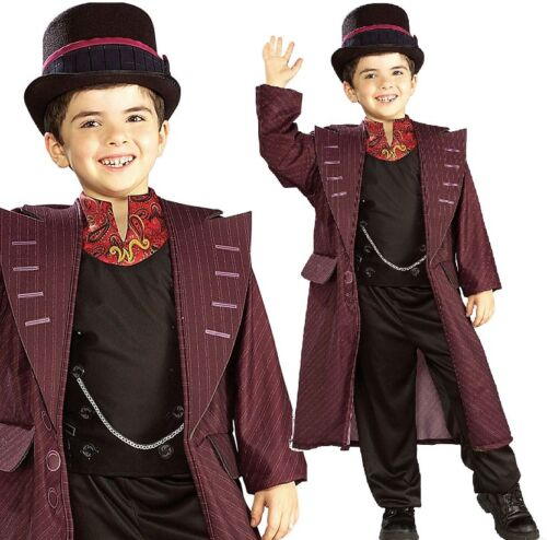 Boys Willy Wonka Charlie & Chocolate Factory Book Day Fancy Dress Costume Outfit