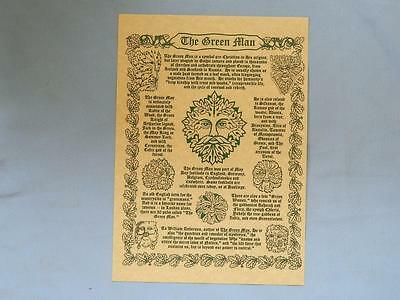 Pagan Green Man Poster/Wicca/Witch/Magick/New/A4