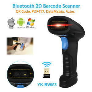 Details about Wireless BLuetooth Barcode Scanner Bar Code Reader Pos Gun  for IOS Win 7/8/10 AU