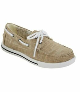 NEW-LL-BEAN-Size-8-M-Women-039-s-Canvas-Sneakers-Sand-Colonial-Two-Eye-Sunwashed
