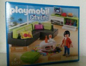 Details zu Playmobil Wohnzimmer 5584 Neu & OVP Moderne Luxusvilla Haus  Villa Möbel Sofa