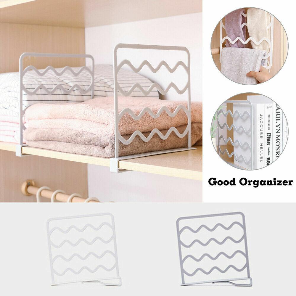 Holder Shelf Divider Storage Organizer Closet Divider Rack Wardrobe Partition