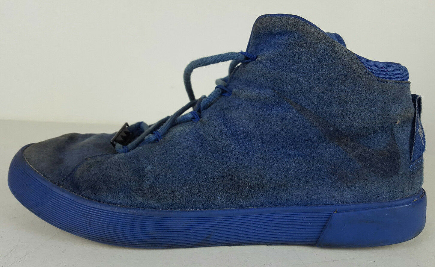 Beaters Nike LeBron 12 Lifestyle Blue Suede Basketball Shoes Men's 9 716417-400