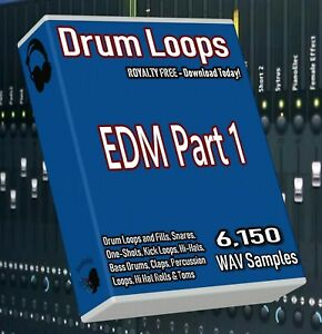 EDM Drum Loops Part 1 EDM Beats! FL Studio Ableton Cubase