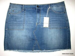 f601e18bdba Wallflower NWT Womens PLUS 22W 22 3X Denim Jean SKIRT Mini Frayed ...