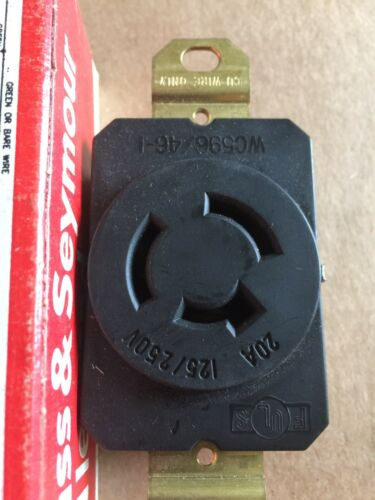 Pass /& Seymour 3P 3W 20 Amp 125//250V Twist Lock Receptacle Non Nema 7310