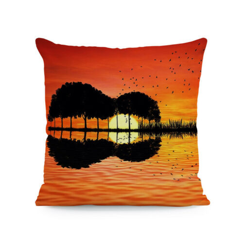 Cojines Beach Throw Cushion Cover Lighthouse Ocean Scenery Square Pillow Case
