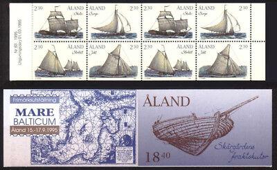 Complete Booklet Aland 1995 Cargo Sailing Ships Sump & Shuta Mnh/unm