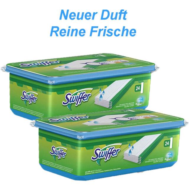 """Swiffer Wet Feuchte Bodentücher mit /""""Reine Frische/""""-Duft von Febreze 6x 24 Stück"""