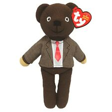 """Official Mr Bean Teddy Bear Beanie Shirt and Tie - TY Baby Teddie 8"""" TV Soft Toy"""