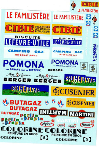 Pegatinas-nassschiebebilder publicidad para Citroen H decal 449 1:50