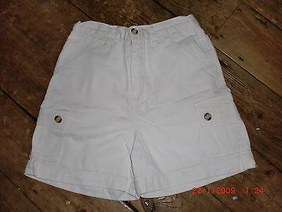 """Vintage 90s Ragazze Pantaloncini Bianco Cotone 122-128cm. 24"""" Vita. Ottime Condizioni-"""