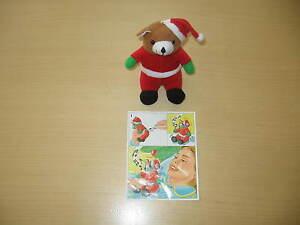 Maxi-Ei-Plueschfigur-034-Weihnachtsbaer-034-inklusive-Beipackzettel