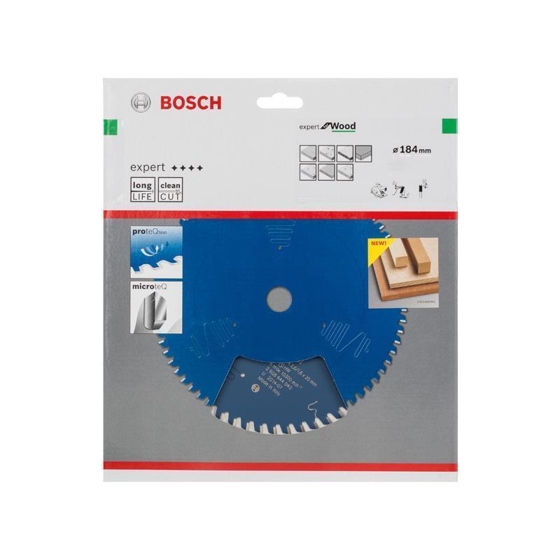 Bosch Hm-Sägeblatt 184x2,6x30 Z56 2608644043 Expert for Wood, für Handkreissägen