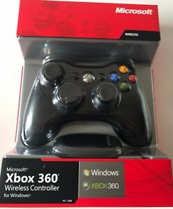 Microsoft xbox 360 wireless controller for windows game pad.