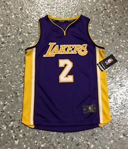 the best attitude e3f0a d0de0 Details about Lonzo Ball Los Angeles Lakers Purple Fanatics Youth Replica  Jersey New With Tags