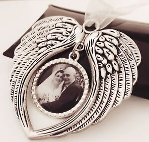 Personalised-Photo-Christmas-Tree-Decoration-Angel-Wings-In-Memory-of-Present