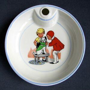 ancienne assiette chaude bouillie bebe en porcelaine les petites canailles chien ebay. Black Bedroom Furniture Sets. Home Design Ideas