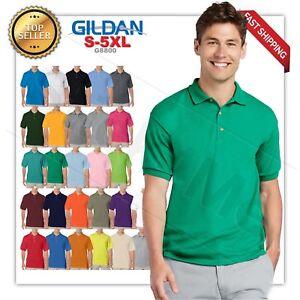 Gildan-DryBlend-Mens-Polo-GOLF-Sport-Shirt-Jersey-T-Shirt-8800-NWOT-Size-S-5XL