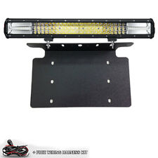 TRI ROW 7D CREE 648W LED Light Bar Front License Mount For US Vehicle Car Truck