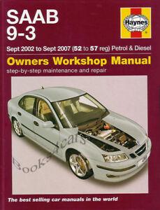 saab 9 3 shop manual book service repair haynes turbo chilton rh ebay com saab 9-3 owner's manual pdf saab owners manual 2000 93