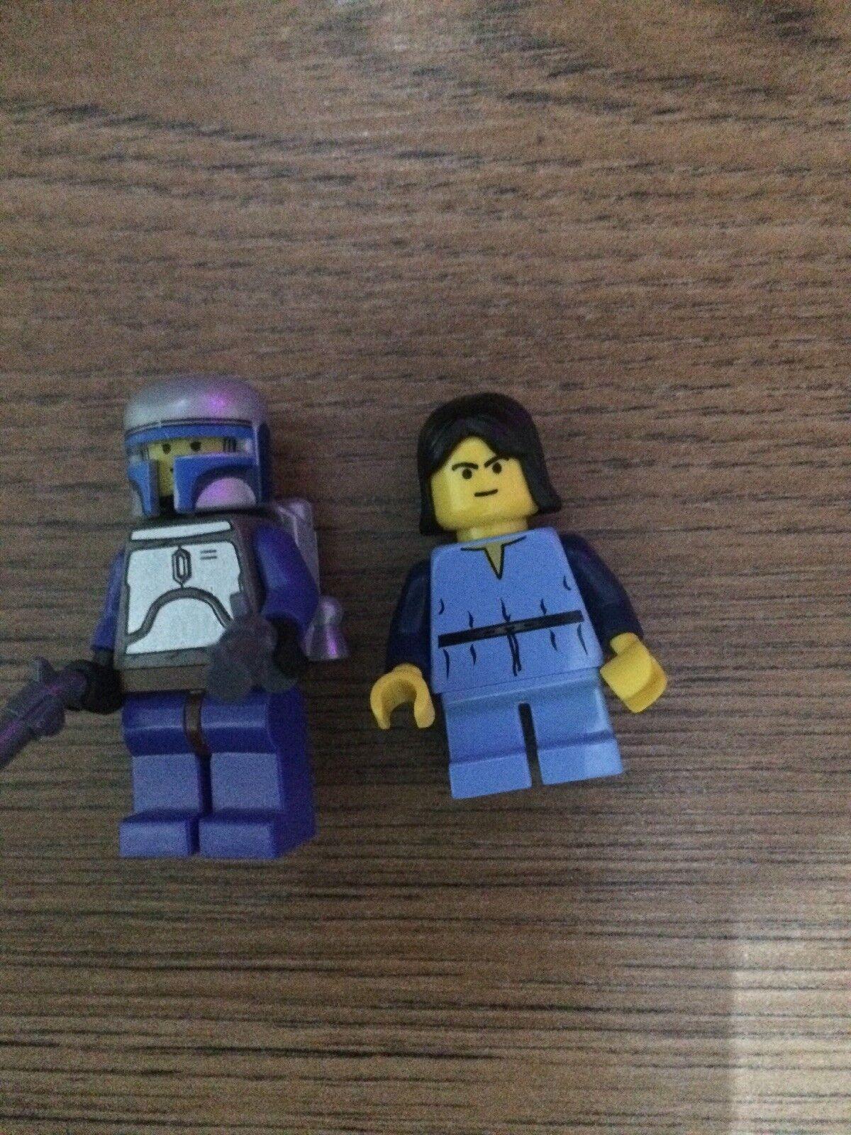 LEGO STAR WARS MINIFIGURES Jango Fett SW053 e i giovani Boba Fett SW054 da 7153