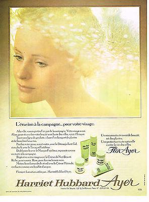 Collectibles Publicite Advertising 1972 Harriet Hubbard Ayer Cosmétiques Flor