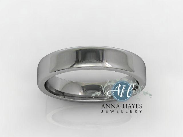 4mm Platinum Ladies Flat Top Court Ring handmade Genuine RRP  (7.6 grams)