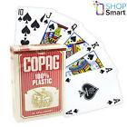 COPAG BRIDGE SIZE 100% PLASTIC PLAYING CARDS DECK RED REGULAR STANDARD INDEX NEW