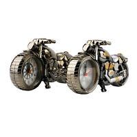 Motorcycle Motorbike Pattern Alarm Clock Creative Home Birthday Gift Cool Clock~