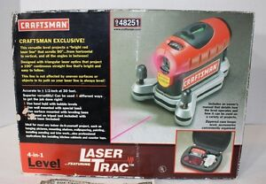 sears craftsman 4 in 1 level with laser trac model 48251 with case rh ebay com Craftsman Laser Trac Level Screen Replacement Craftsman Digital Level
