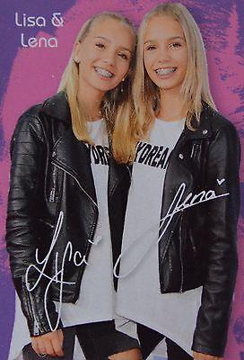 LISA /& LENA Autogrammkarte Autogramm Fan Sammlung Clippings NEU