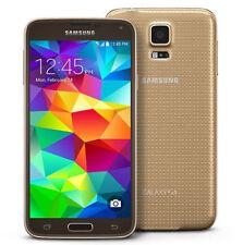 """Oro Libre Telefono Movil 5.1"""" Samsung Galaxy S5 G900F 4G LTE 16GB 16MP Europe"""