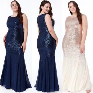 Goddiva-Chiffon-Inserts-Sequin-Maxi-Evening-Dress-Wedding-Ballgown-Prom-Party
