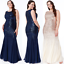 Goddiva-Chiffon-Inserts-Sequin-Maxi-Evening-Dress-Wedding-Ballgown-Prom-Party thumbnail 1