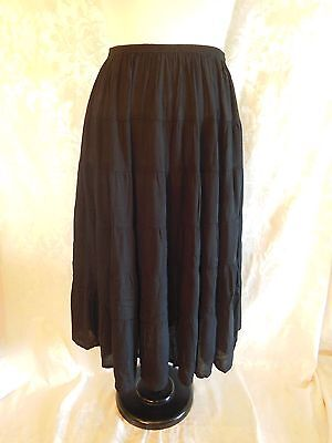 We Be Bop Women/'s Plus Size Black Tiered Skirt Smooth Webebop Rayon 3X 4X 5X NEW