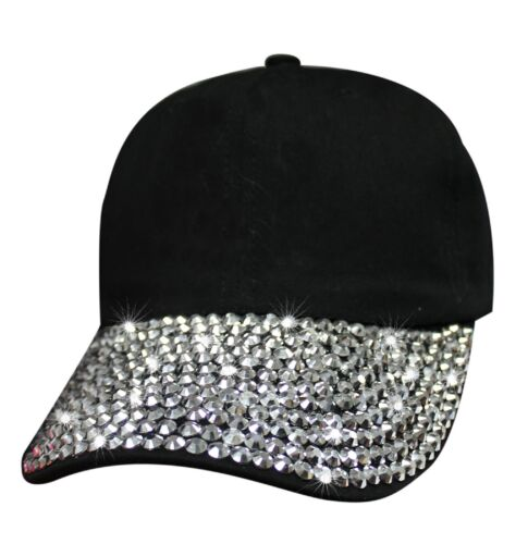 Bling Bill Women Hat Fashion 6 Panel Faux Leather Strap Buckle Closure
