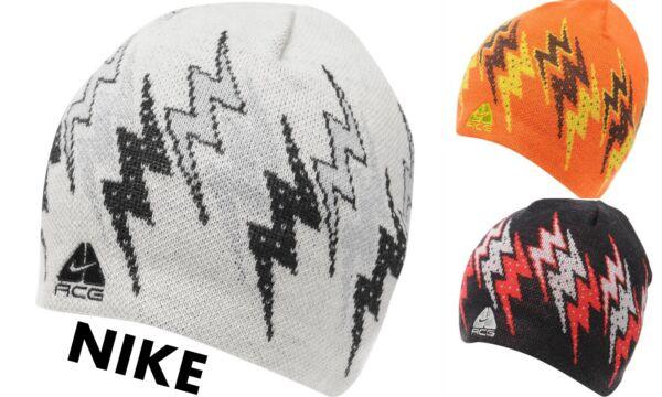 Abundante Nuevo Para Hombres Nike Acg Unisex De Acrílico Rider Espadilla Gorro Una Talla 3x Colores-ver