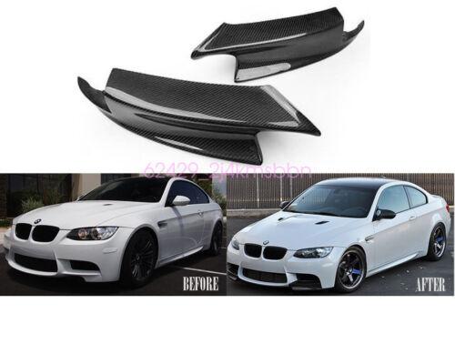 2PCS CARBON FRONT BUMPER FIBER LIP SPOILER SPLITTERS FOR 07-2012 BMW E92 M3