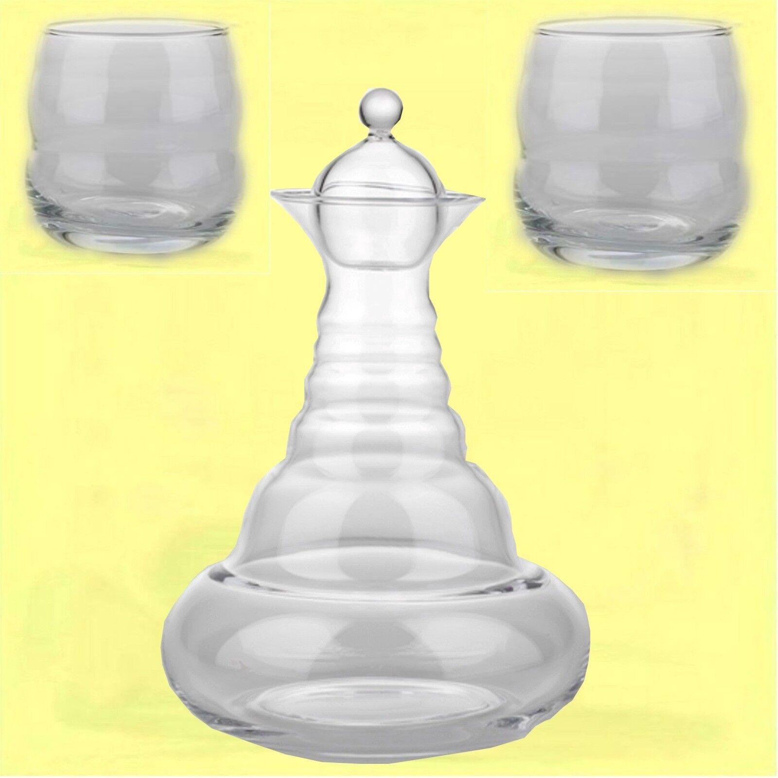 1 ND garrafa alladin y 2 ND vasos mito jarra de agua para agua brinde