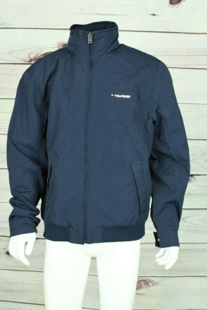 Tommy Hilfiger Men's Jacket L Large Navy Blue 2 Front