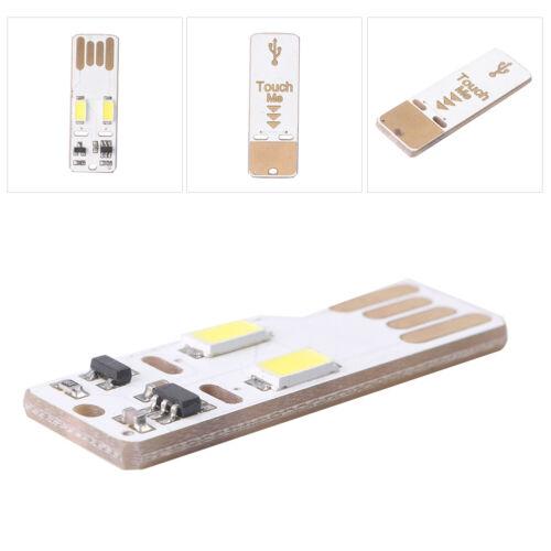 1PC Mini USB Touch Light Module White Bulb Light 2 LED USB Touch Lamp