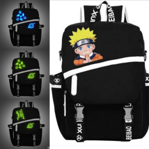 Hokage Naruto0 Sharingan Luminous Backpack Men/'s Shoulder Bag Satchel Schoolbag