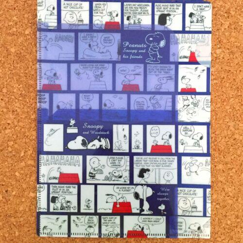 Snoopy Peanuts 3 Pocket A5 Clear Plastic Folder Comic Woodstock ES265A