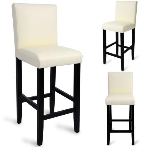 2 x Barhocker Bistrostuhl mit Lehne Sitzfläche aus Kunstleder Bistrohocker e179