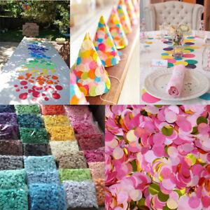 Details About 3000pcs Rainbow Circles Confetti Biodegradable Kids Party Wedding Decor Throwing