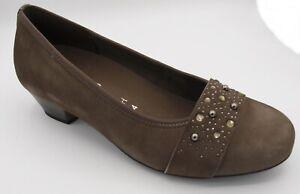 Details zu Sonderangebot Gabor Comfort Schuhe Pumps Leder weite H Kaschmir Neu 9319